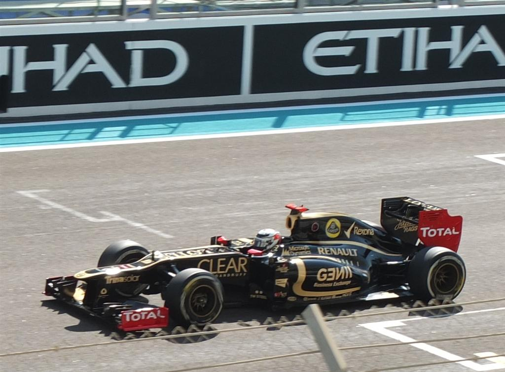 Kimi Raikkonen in the Lotus