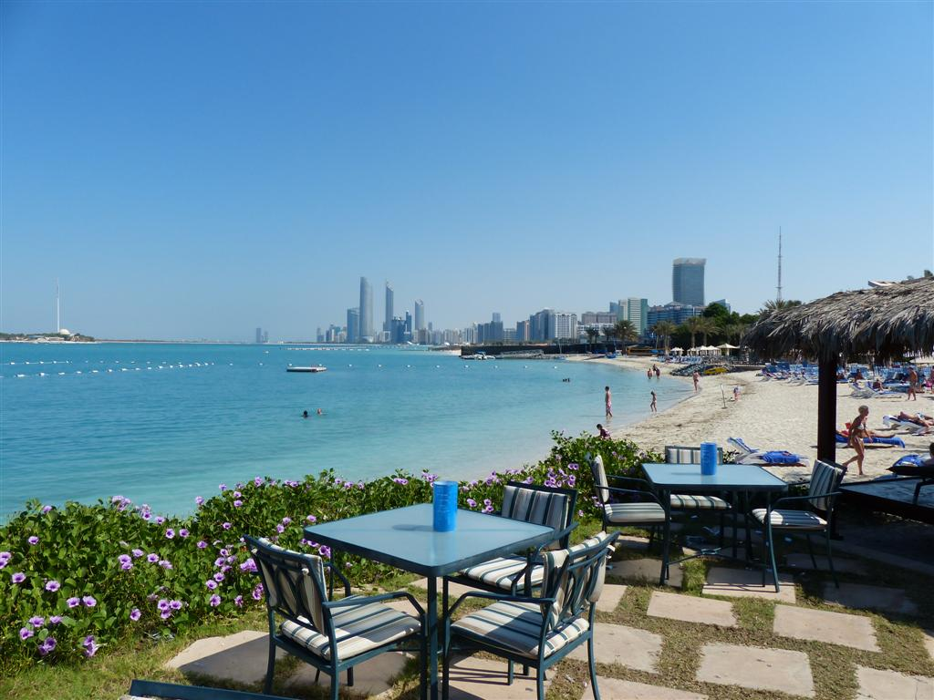 Abu Dhabi Hilton's private hotel beach