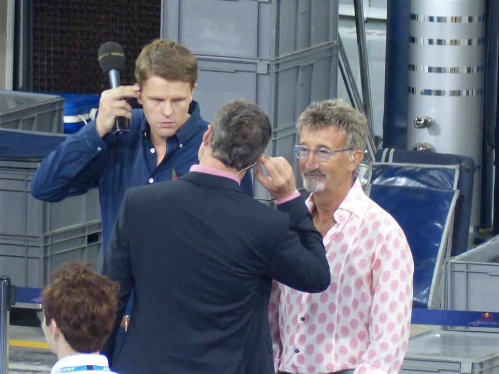 Jake Humphrey, Eddie Jordan and David Coulthard