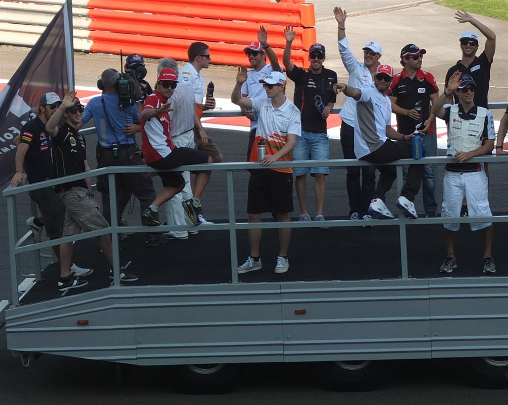 F1 drivers' parade