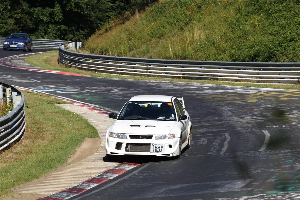 Taking kerb at Wippermann