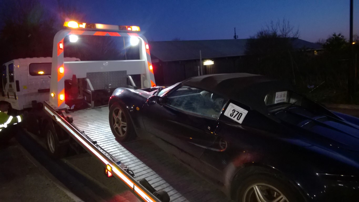 Lotus Elise on recovery truck